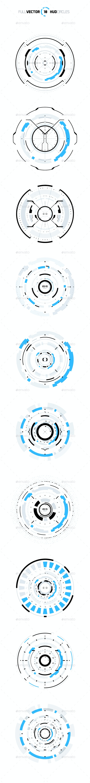 10 Hud Circle Elements - Miscellaneous Vectors