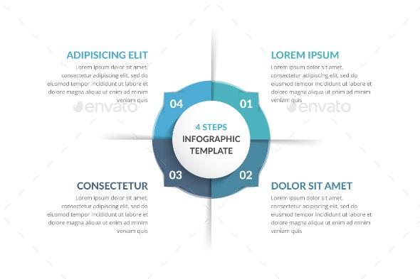 Circle Infographics with Four Elements - Infographics