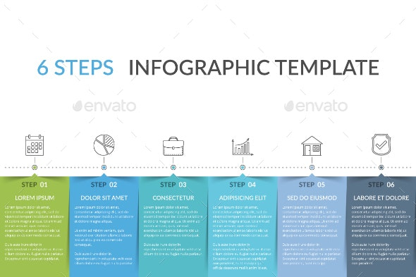 Infographic Template with 6 Elements - Infographics