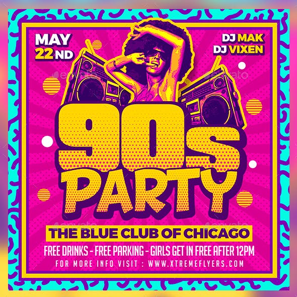 90s Party Flyer