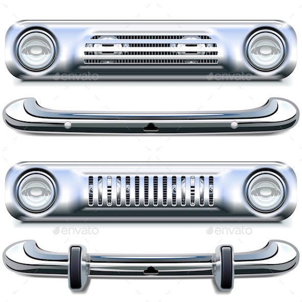 Vector Retro Chrome Bumpers
