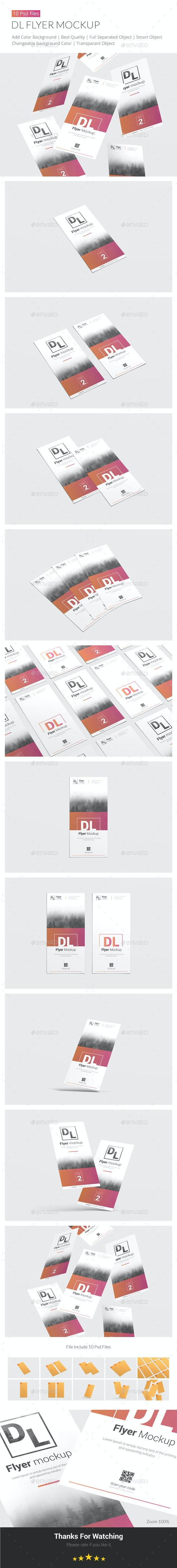 Dl Flyer Mockup - Print Product Mock-Ups