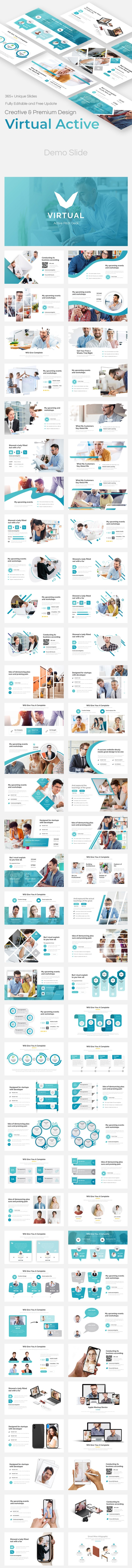Virtual Active Pitch Deck Keynote Template - Business Keynote Templates