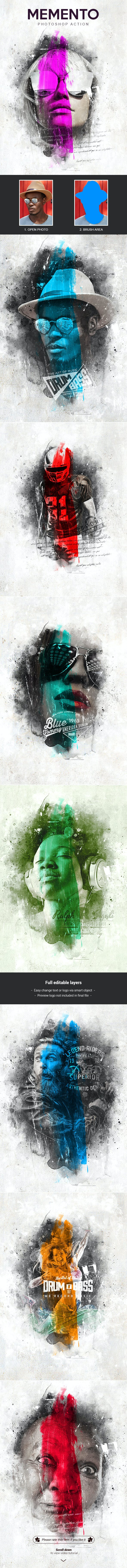 Memento - Photoshop Action