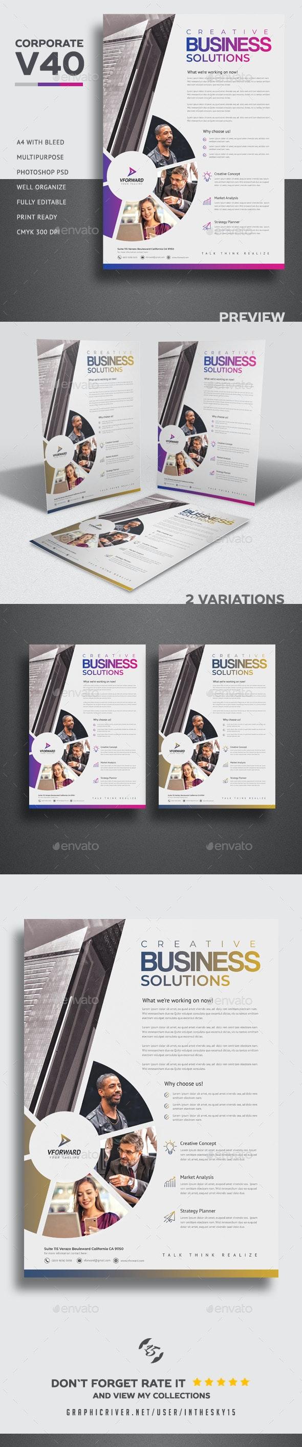 Corporate V40 Flyer - Flyers Print Templates