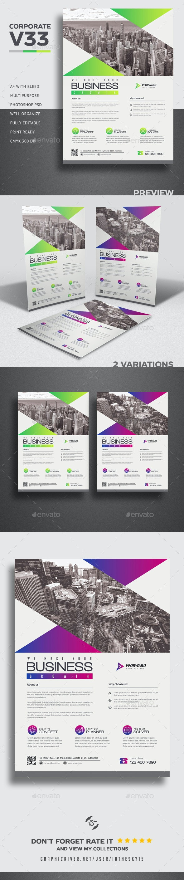 Corporate V33 Flyer - Corporate Flyers