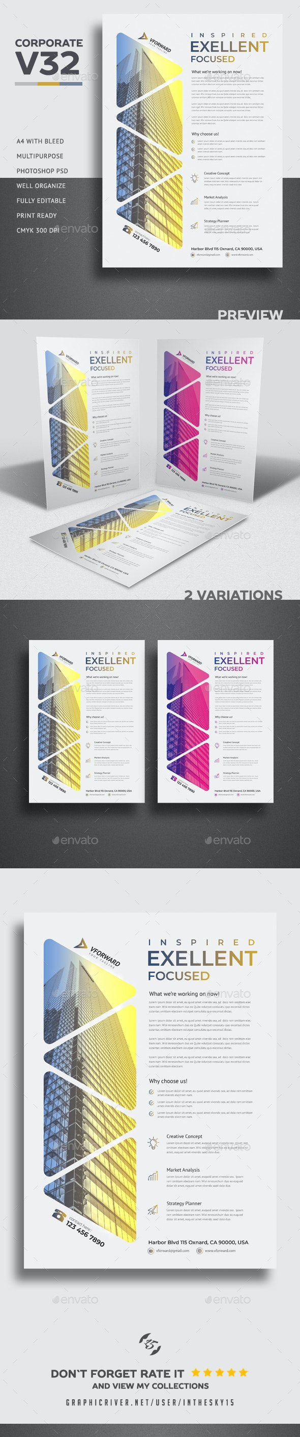 Corporate V32 Flyer - Flyers Print Templates