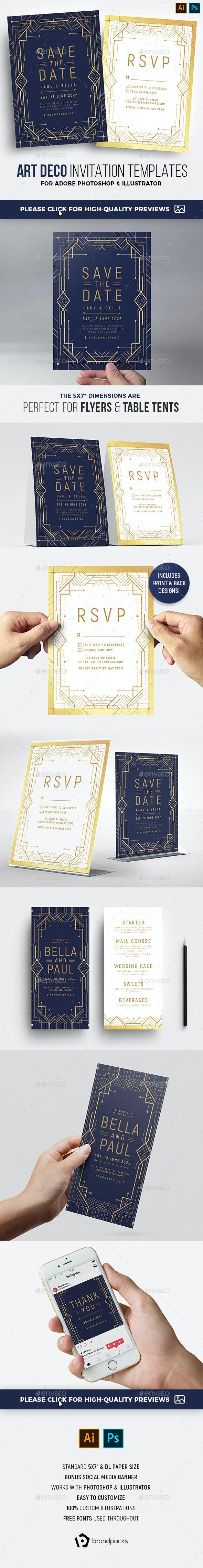 Art Deco Invitation - Weddings Cards & Invites