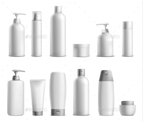Cosmetic Mockup Packages - Man-made Objects Objects
