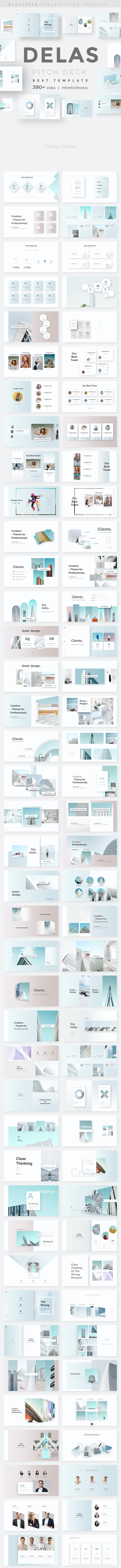 Delas Minimal Design Keynote Template - Creative Keynote Templates