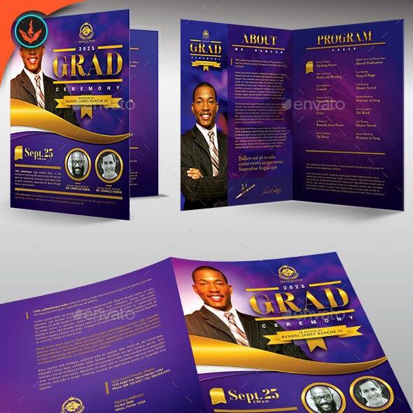 Pastor's Graduation Ceremony Program Template