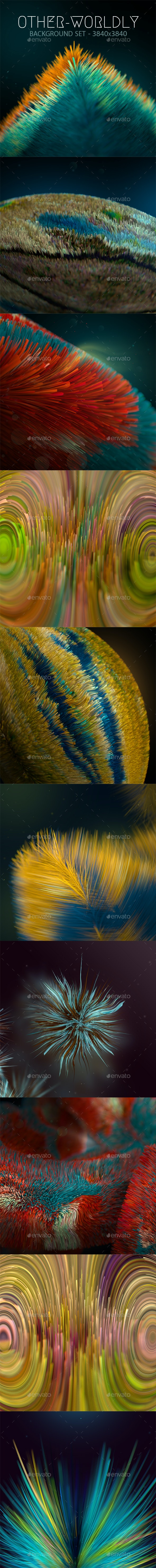 Other-worldly Microscopic Background Set - 3D Backgrounds