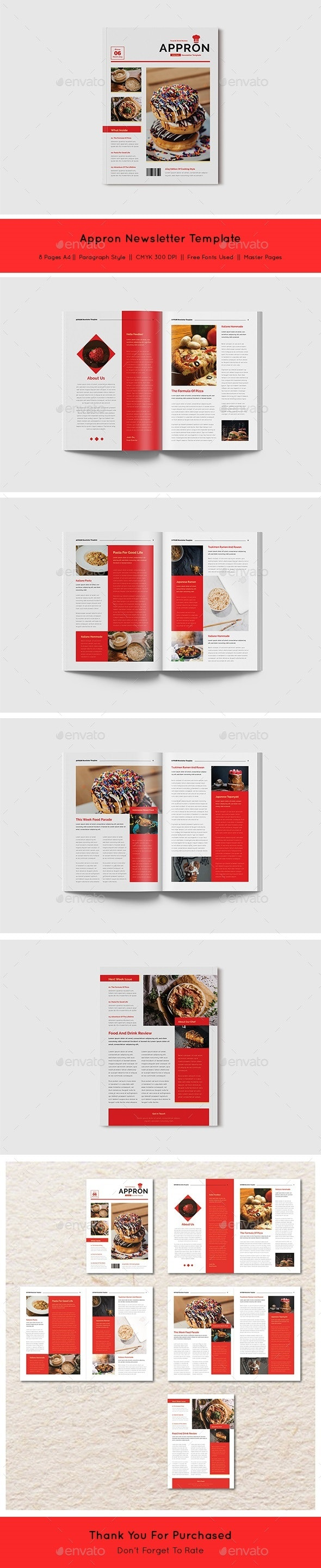 Appron Newsletter Template - Newsletters Print Templates