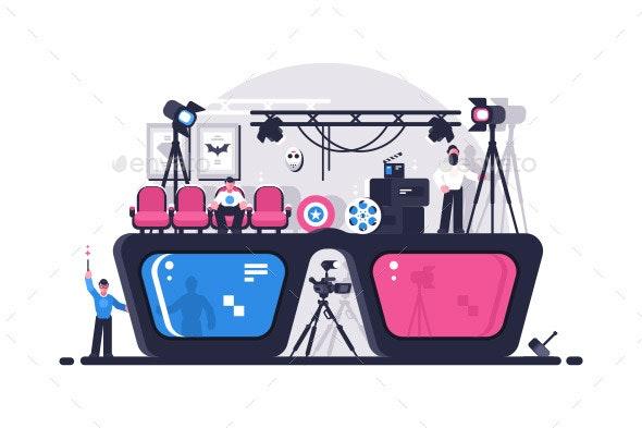 Movie Glasses - Retro Technology