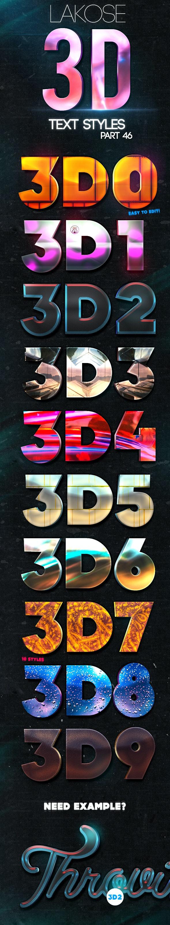 Lakose 3D Text Styles Part 46 - Text Effects Styles