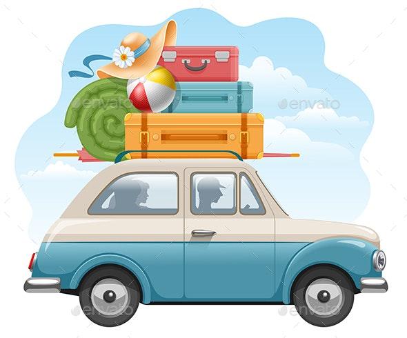 Car Travel - Travel Conceptual