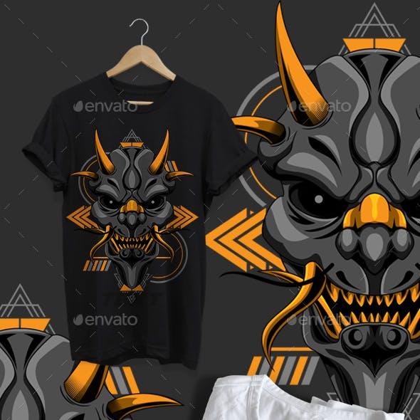 Oni Geometric Design Tshirt