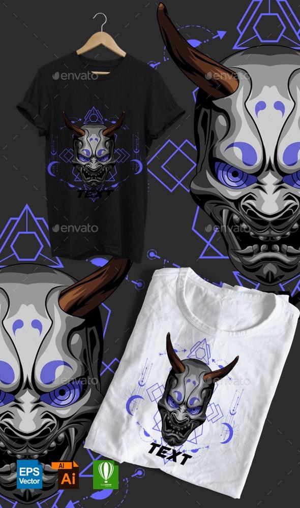 Oni Geometric Toxic Tshirt - Designs T-Shirts