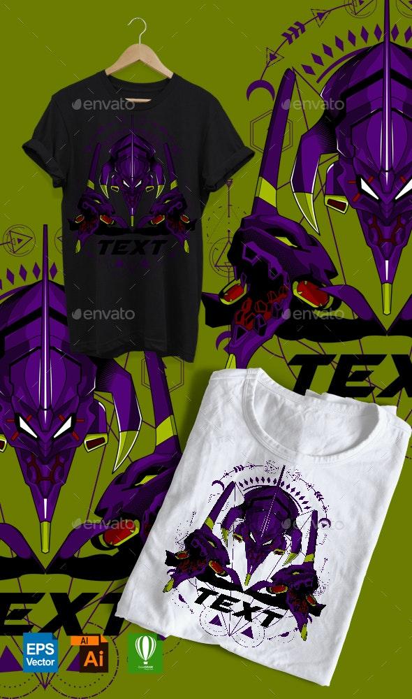 Gundam Eva Geometric - Designs T-Shirts