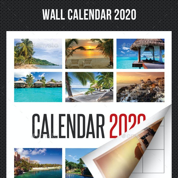 Wall Calendar 2020 V02