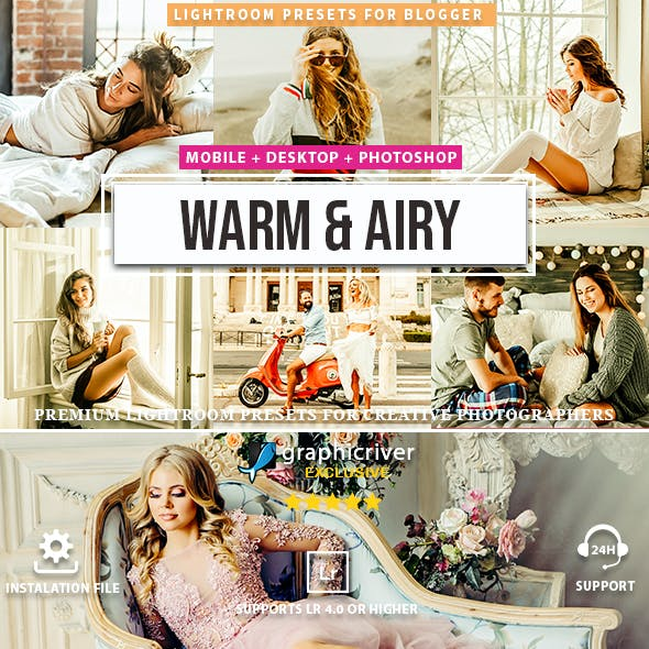 Warm & Airy Lightroom Presets and Mobile Presets