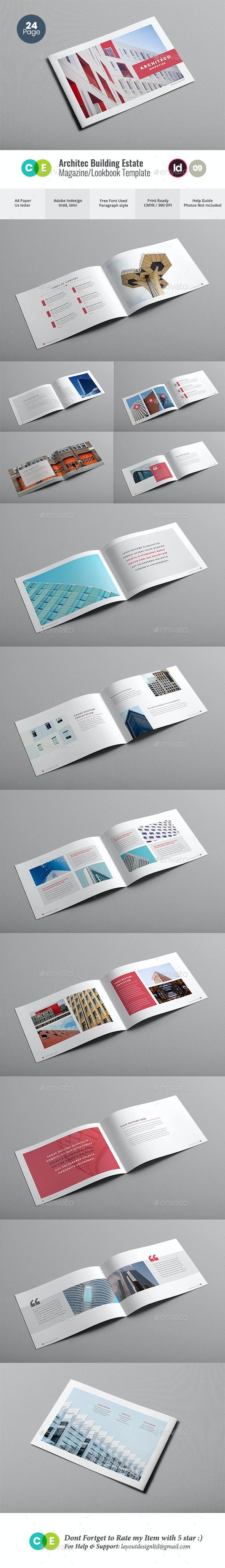 Architacture Building Estate Magazine V09 - Magazines Print Templates