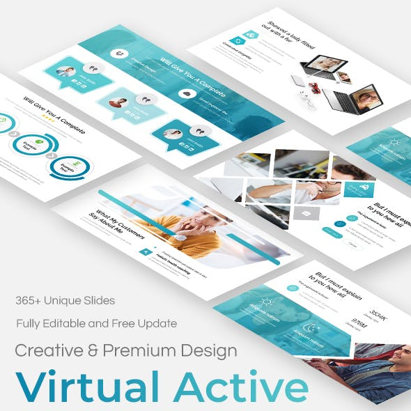 Virtual Active Pitch Deck Google Slide Template