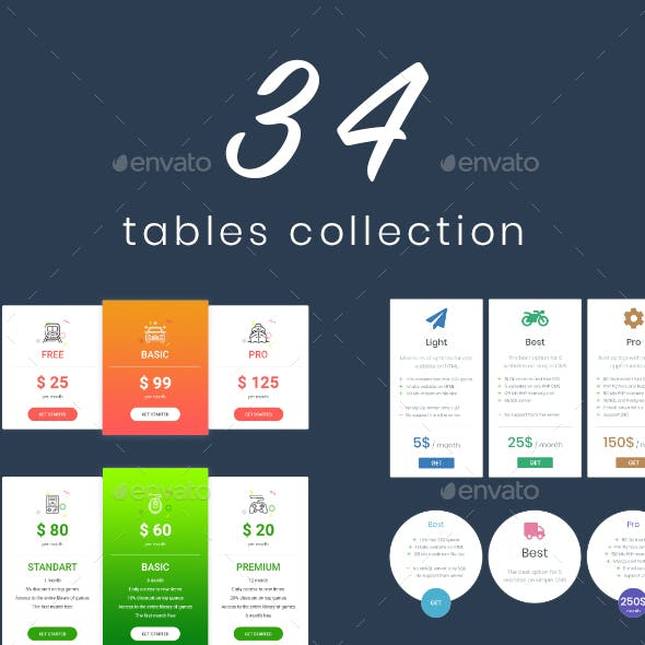Tofo - Table Templates Collection