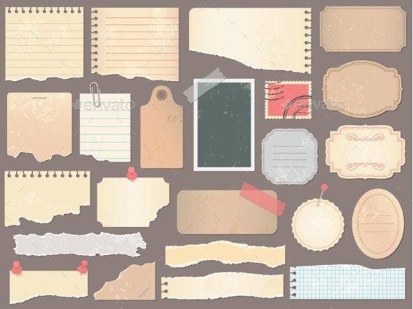 Scrapbook Papers - Miscellaneous Vectors