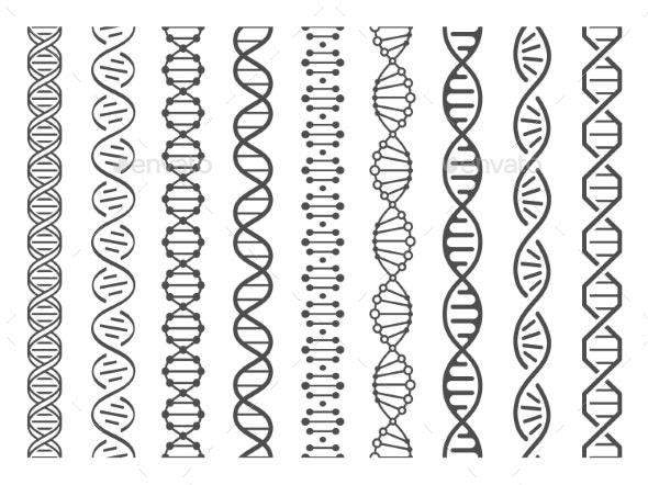 Seamless DNA Spiral - Health/Medicine Conceptual