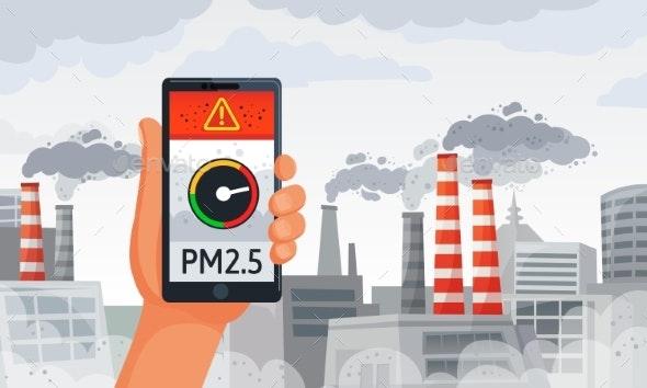 Air Pollution Alert - Miscellaneous Vectors
