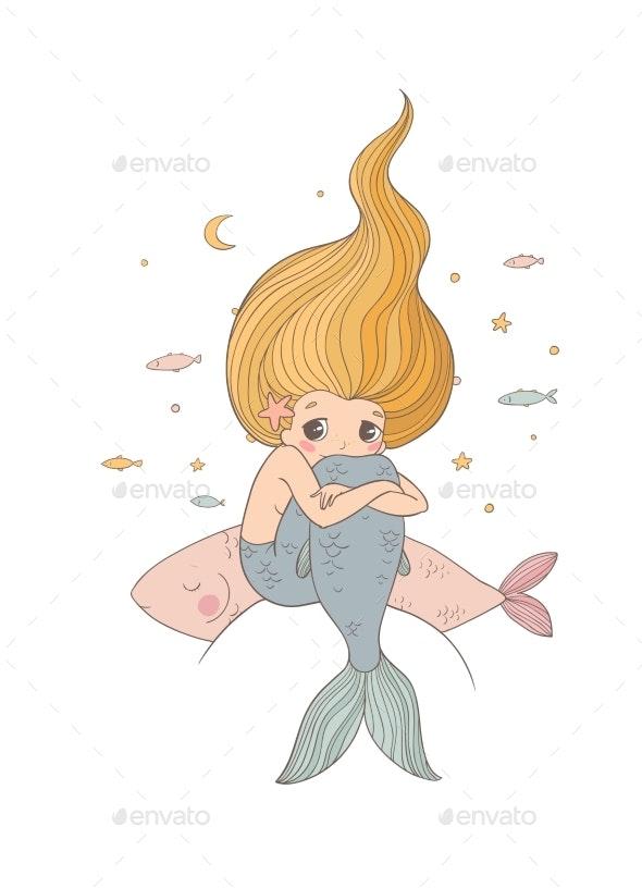 Cartoon Mermaid - Miscellaneous Characters
