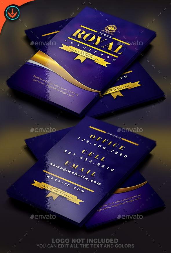 Royal Concierge Business Card Template - Business Cards Print Templates
