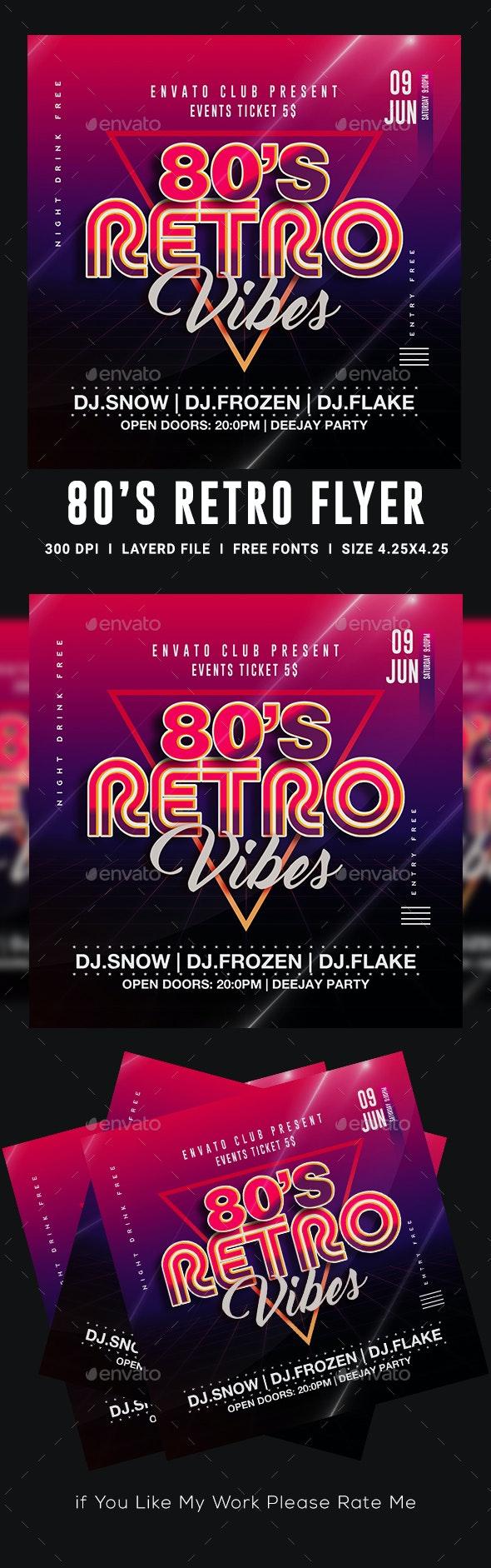 80's Retro Flyer - Events Flyers