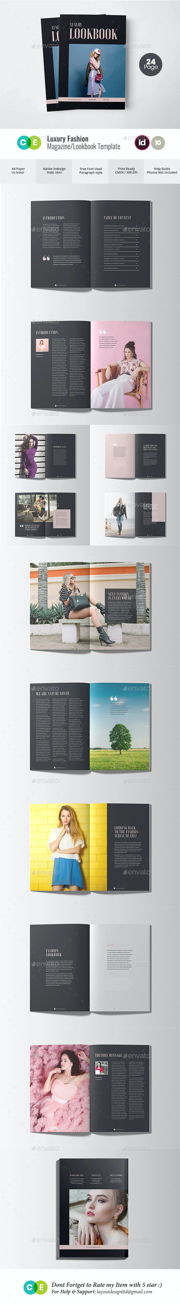 Luxury Fashion Magazine Lookbook V10 - Magazines Print Templates