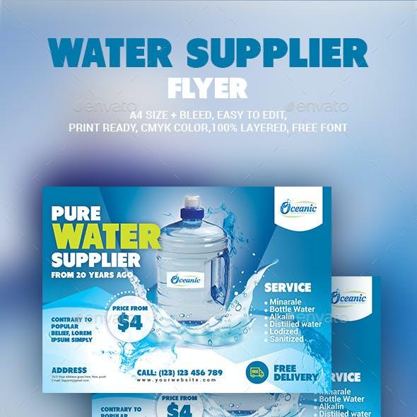 Water Supplier Flyer