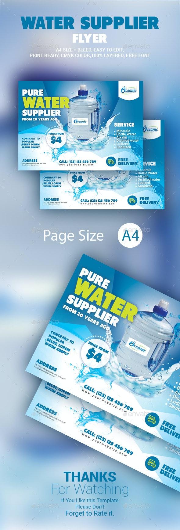 Water Supplier Flyer - Commerce Flyers