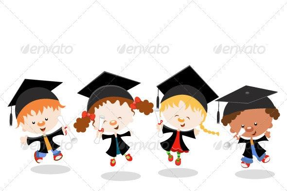 Graduated Kids - People Characters