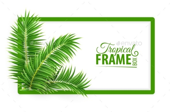 Tropical Banner Frame - Flowers & Plants Nature