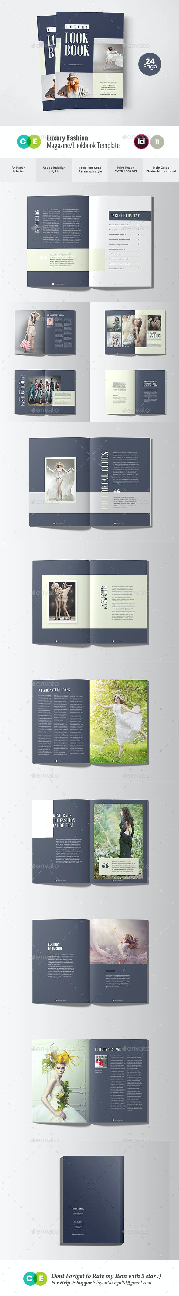 Luxury Fashion Magazine Lookbook V11 - Magazines Print Templates