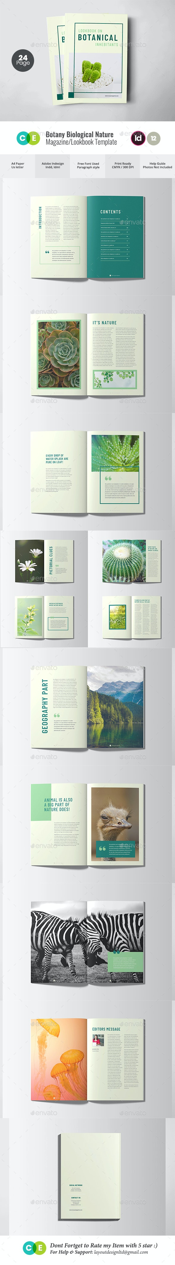 Nature Botanical Green Magazine V12 - Magazines Print Templates