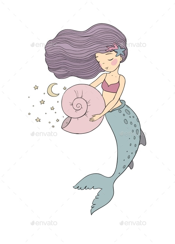 Cartoon Mermaid - Animals Characters