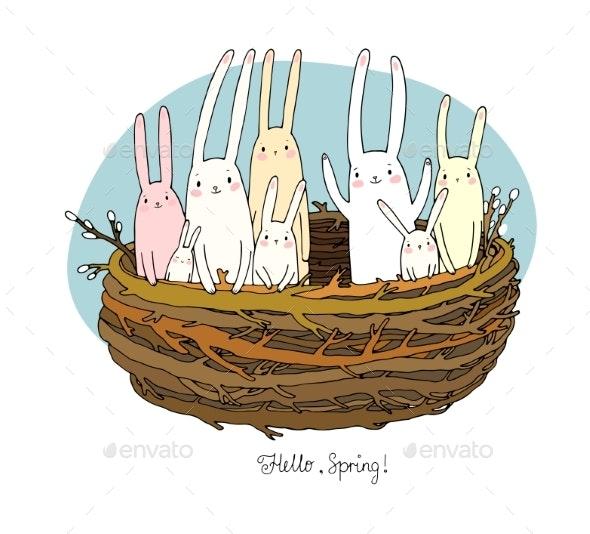 Cartoon Bunnies - Animals Characters