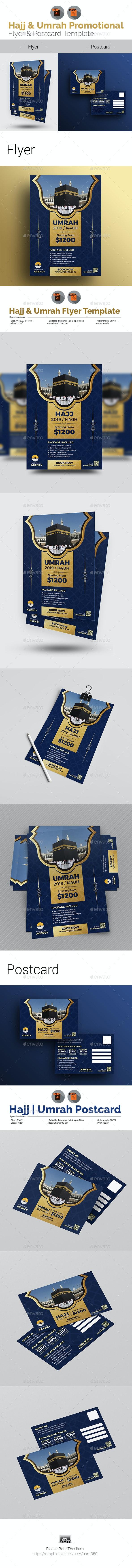 Hajj Flyer with Postcard Bundle - Events Flyers