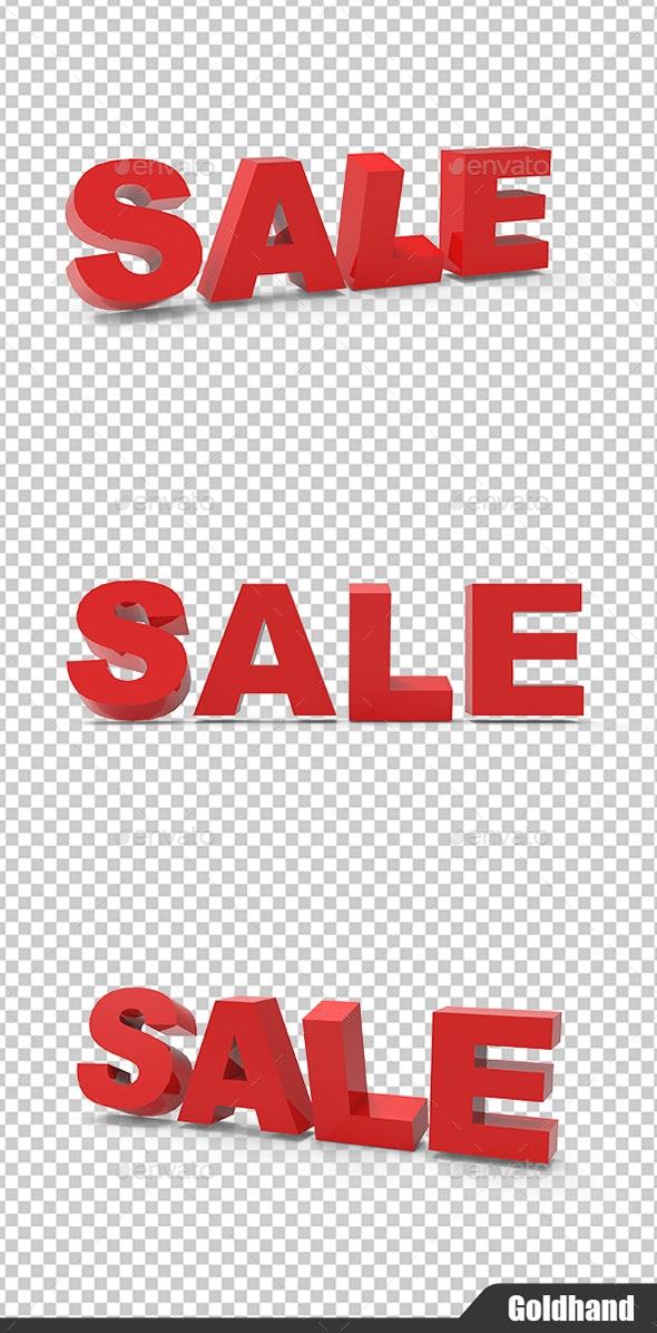 3D Sale Design - Text 3D Renders
