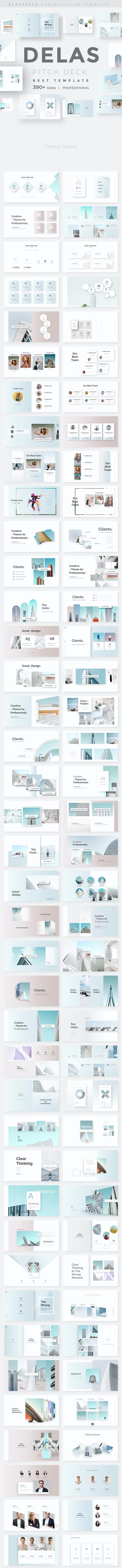 Delas Minimal Design Google Slide Template - Google Slides Presentation Templates