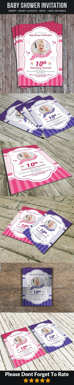 Baby Shower Invitation - Cards & Invites Print Templates