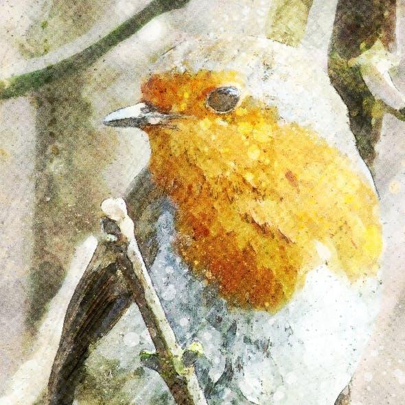 Amazing Watercolor Art Photoshop Action Vol 2