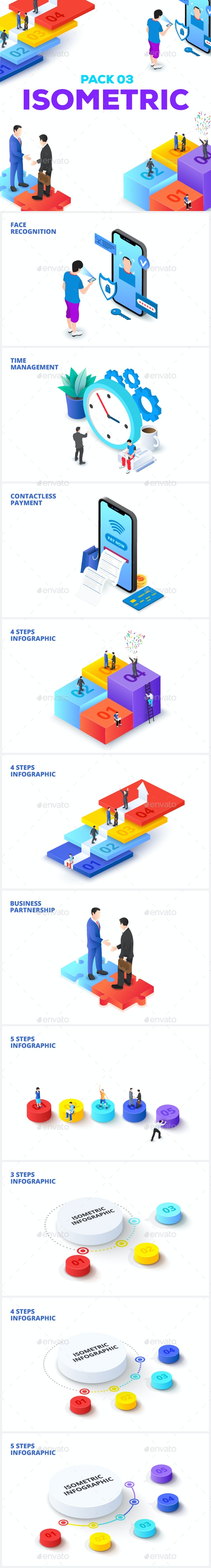 Isometric Pack 03 - Concepts Business