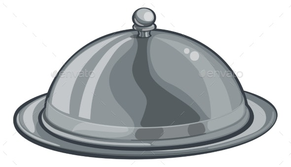Silver Plate Platter Domed Cloche Food Cartoon - People Characters